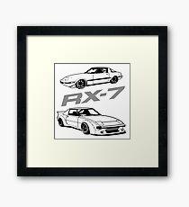 Series 1 Rx7 Mazda Rotary Framed Print