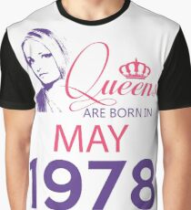 It's My Birthday 40. Made In May 1978. 1978 Gift Ideas. Graphic T-Shirt