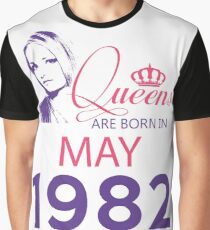 It's My Birthday 36. Made In May 1982. 1982 Gift Ideas. Graphic T-Shirt