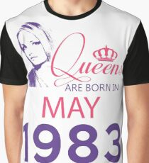 It's My Birthday 35. Made In May 1983. 1983 Gift Ideas. Graphic T-Shirt