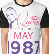 It's My Birthday 31. Made In May 1987. 1987 Gift Ideas. Graphic T-Shirt