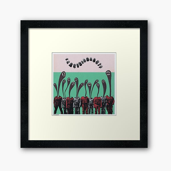 Demon Corps (Analogue Collage) Framed Art Print