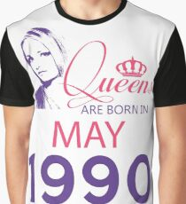 It's My Birthday 28. Made In May 1990. 1990 Gift Ideas. Graphic T-Shirt