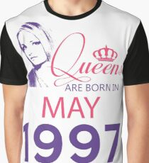 It's My Birthday 21. Made In May 1997. 1997 Gift Ideas. Graphic T-Shirt