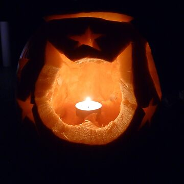 Cat and Stars Pumpkin by ViczS