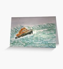 Severn class Lifeboat Greeting Card