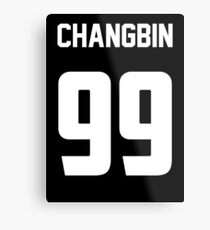 KPOP STRAY KIDS CHANGBIN 99 Metal Print