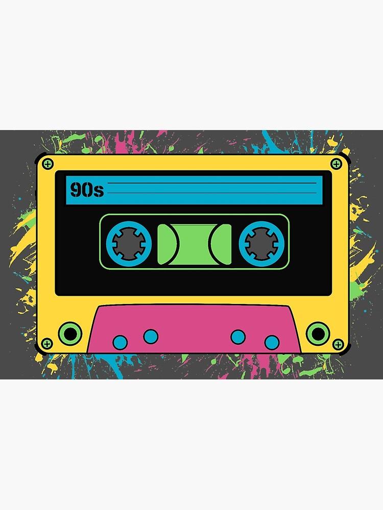 "90s Cassette Tape Retro Cool Music Tee"" Laptop Skin by Sid3walkArt2 |  Redbubble"