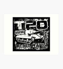 T20 Medium Tank Art Print