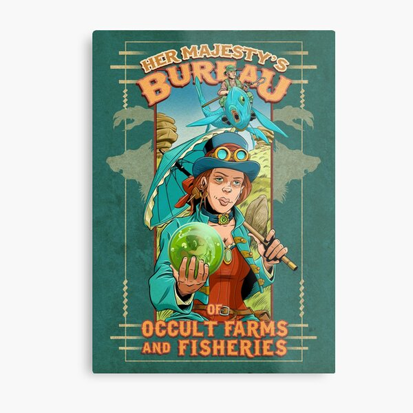 Her Majesty's Bureau of Occult Farms and Fisheries Metal Print