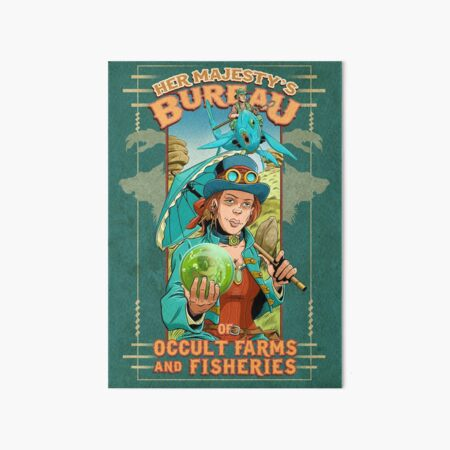 Her Majesty's Bureau of Occult Farms and Fisheries Art Board Print