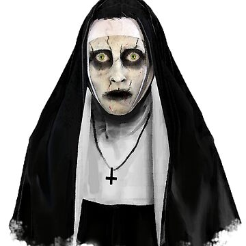 Nun Halloween T-Shirt horror witch by Collagedream
