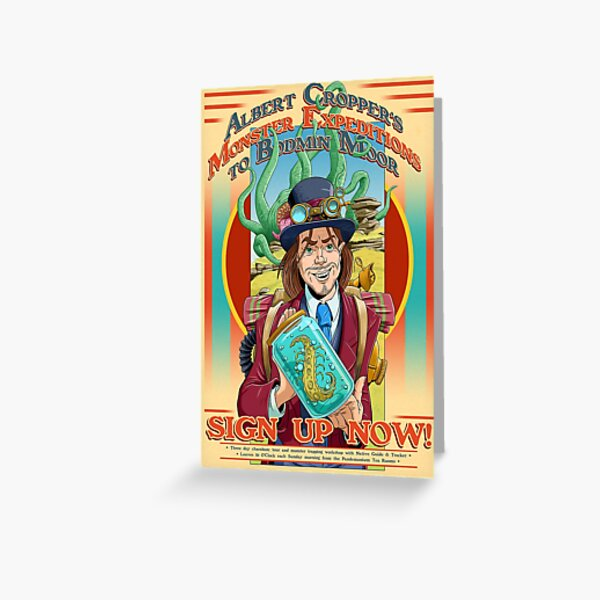 Albert Cropper Monster Stopper Greeting Card
