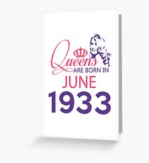 It's My Birthday 85. Made In June 1933. 1933 Gift Ideas. Greeting Card