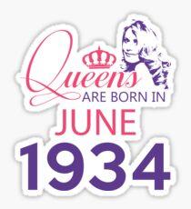 It's My Birthday 84. Made In June 1934. 1934 Gift Ideas. Sticker