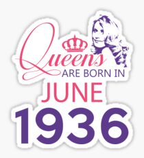 It's My Birthday 82. Made In June 1936. 1936 Gift Ideas. Sticker