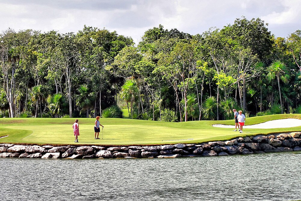 Moon Palace Golf Course, Cancun  by Dave Nielsen