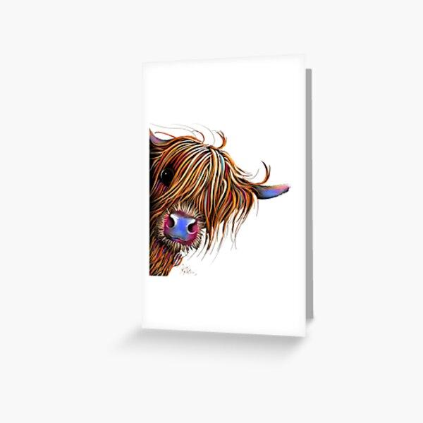 HiGHLaND CoW PRiNT SCoTTiSH ' SuGaR LuMP ' BY SHiRLeY MacARTHuR Greeting Card