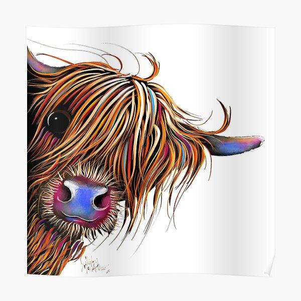HiGHLaND CoW PRiNT SCoTTiSH ' SuGaR LuMP ' BY SHiRLeY MacARTHuR Poster