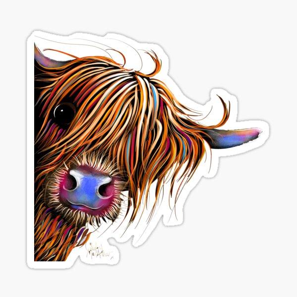 HiGHLaND CoW PRiNT SCoTTiSH ' SuGaR LuMP ' BY SHiRLeY MacARTHuR Sticker