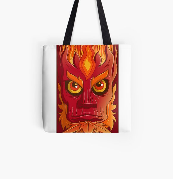 Fire elemental All Over Print Tote Bag