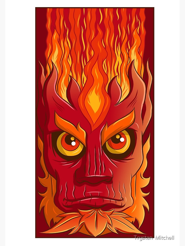 Fire elemental by Trystan