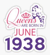 It's My Birthday 80. Made In June 1938. 1938 Gift Ideas. Sticker