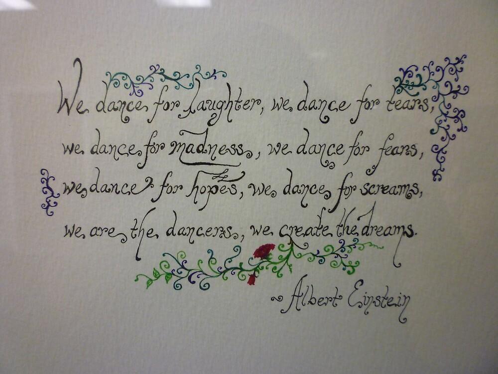 Albert Einstein Quote, Close-Up by Works By  Barbara