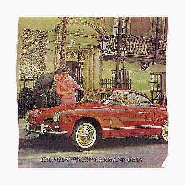 Karmann Ghia.. Vintage Fifties Poster
