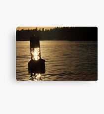 A Lazy Sunset Canvas Print