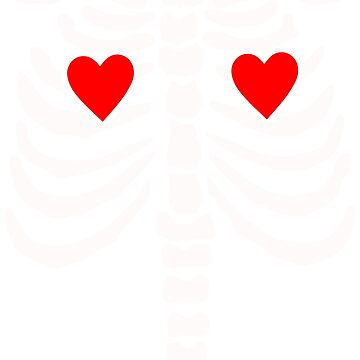skeleton doble heart Halloween horror pop art by Collagedream