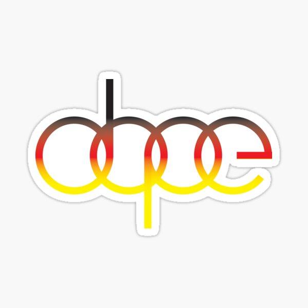 Audi Dope Sticker