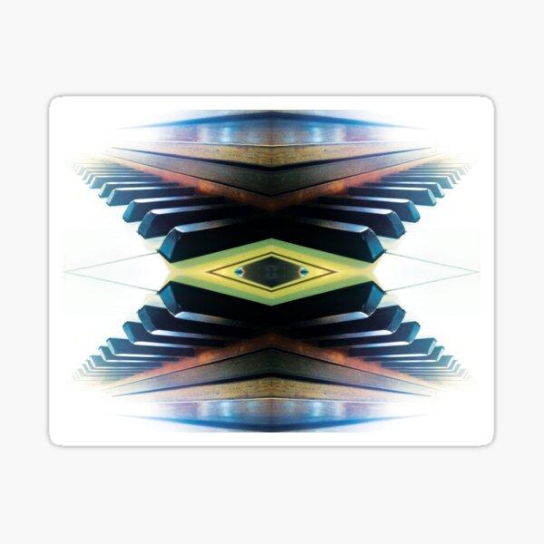 Piano Destinations (Where Will Music Take You?) by Jerald Simon (Music Motivation - musicmotivation.com) Sticker