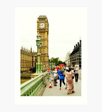 Smile Please: Tourists and Big Ben Art Print