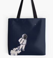 Brian The Poostronaut Evacuates To Outer Space Tote Bag