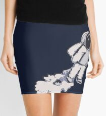 Brian The Poostronaut Evacuates To Outer Space Mini Skirt