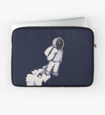 Brian The Poostronaut Evacuates To Outer Space Laptop Sleeve