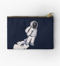 Brian The Poostronaut Evacuates To Outer Space Studio Pouch