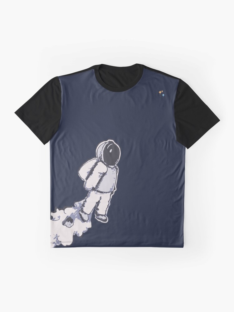 Alternate view of Brian The Poostronaut Evacuates To Outer Space Graphic T-Shirt
