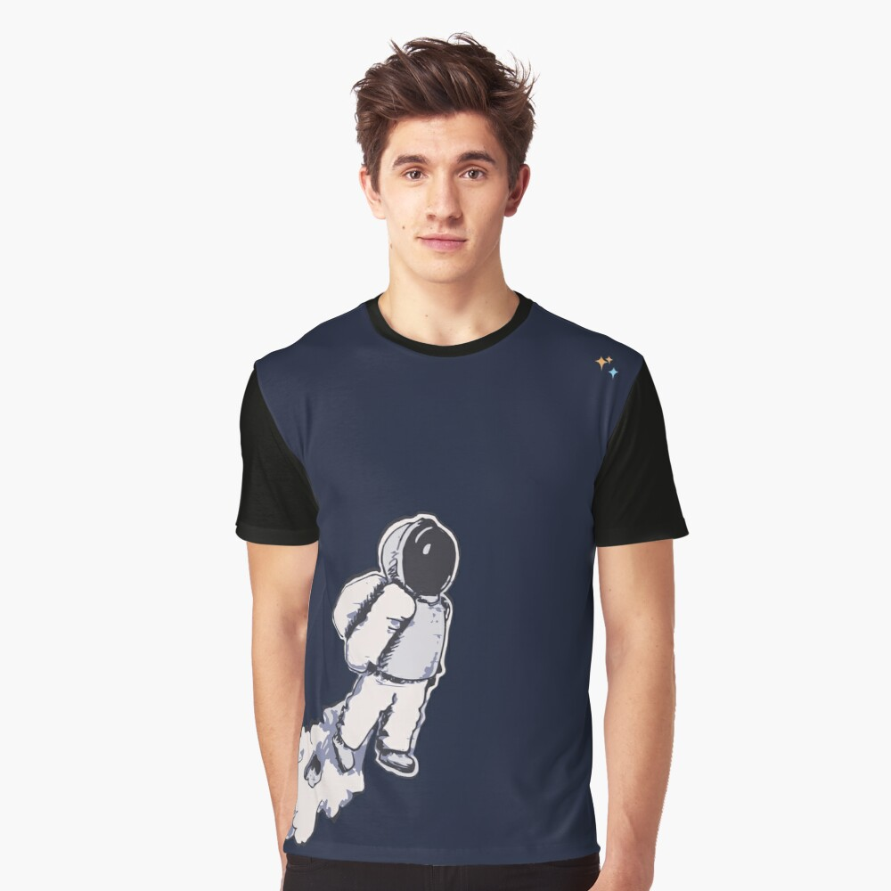 Brian The Poostronaut Evacuates To Outer Space Graphic T-Shirt Front
