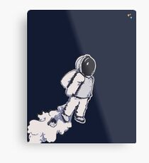 Brian The Poostronaut Evacuates To Outer Space Metal Print