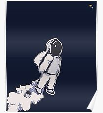 Brian The Poostronaut Evacuates To Outer Space Poster