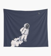 Brian The Poostronaut Evacuates To Outer Space Wall Tapestry