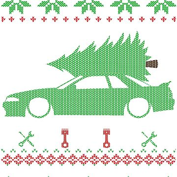 Skyline R32 Christmas Ugly Sweater by glstkrrn