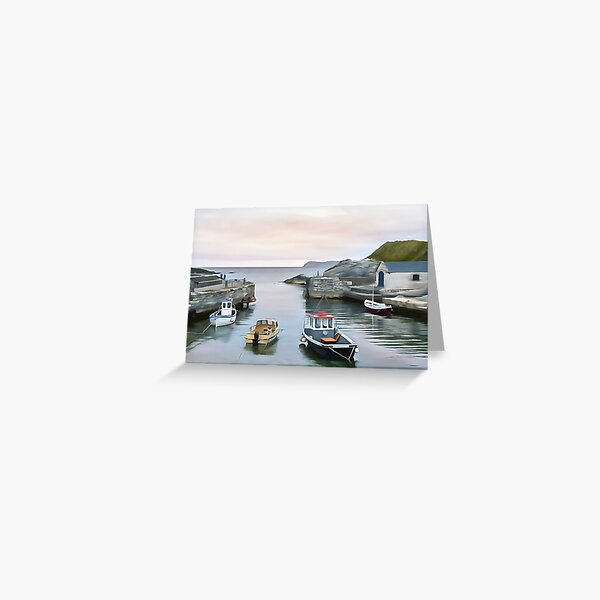 Ballintoy Harbour, Ireland. (Painting) Greeting Card