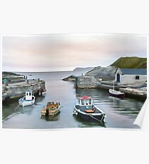 Ballintoy Harbour, Ireland. (Painting) Poster