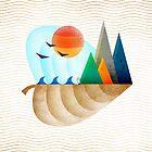 «Hoja de otoño paisaje mínimo II» de OwlyChic