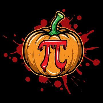 Pumpkin Pi Halloween Pumpkin Pie Math Algebra Mathematics Shirts and Stickers by Joeby26