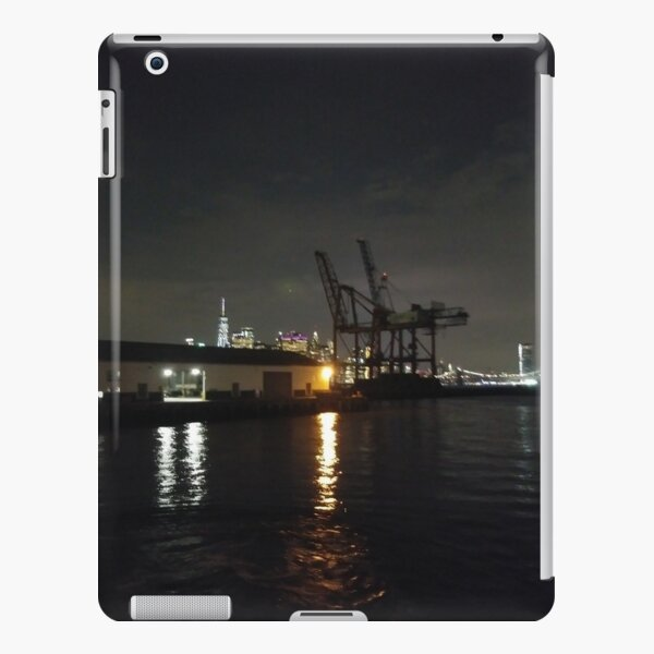 #Port, #crane, #ship, #industry, #sea, #cargo, #harbor, #dock, #shipping, #industrial, #night, #container, #water, #transportation, #transport, #cranes, #boat, #sky, #harbour iPad Snap Case