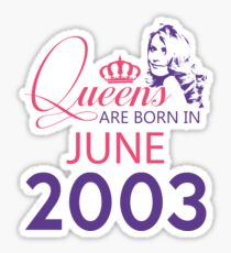 It's My Birthday 15. Made In June 2003. 2003 Gift Ideas. Sticker